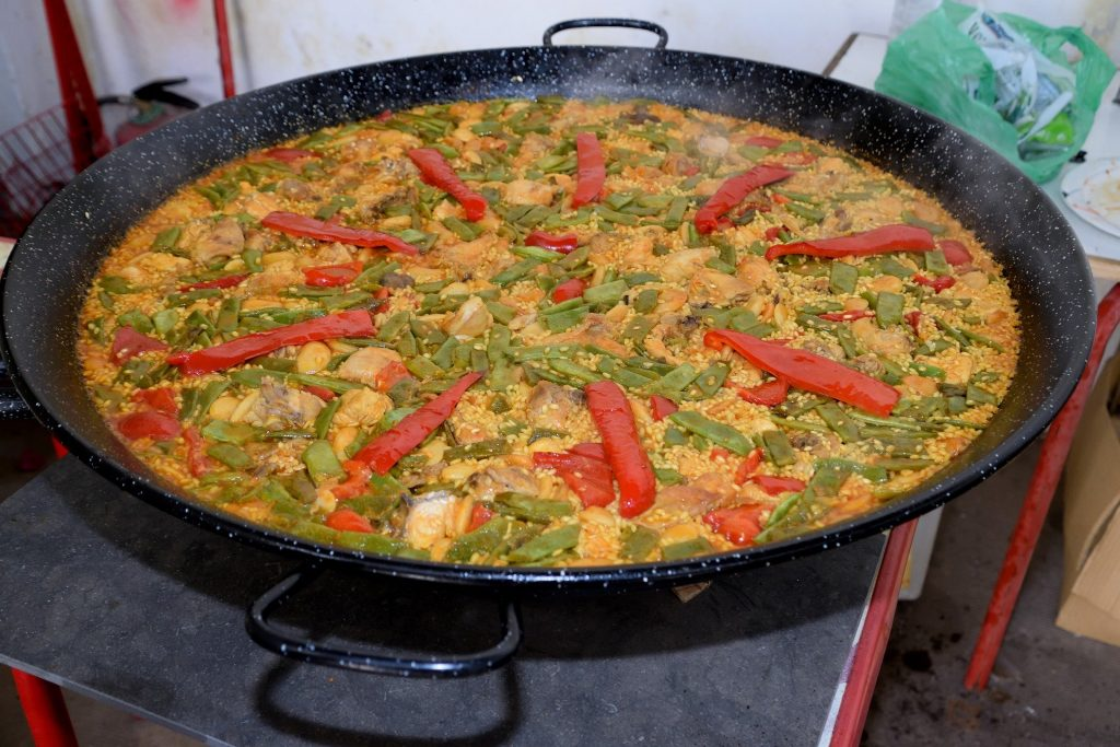 arroz con pollo al disco
