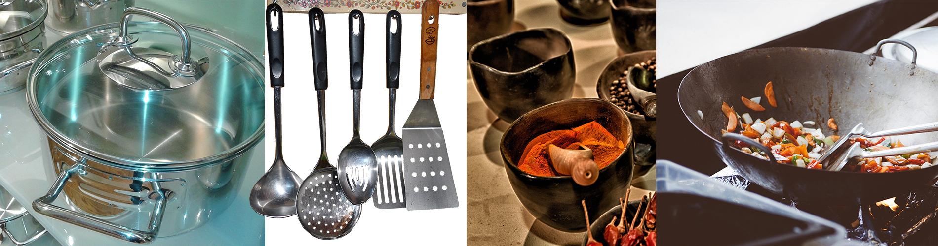 utensilios de cocina para arroz con pollo